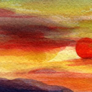 Tramonto sul mare sole rosso luca sanna